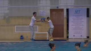 Алена Игнатович & Кирилл Мерзляков - Урок Аквааэробика(Double Dumbbell AFT 2015) Aqua-aerobic