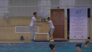 Алена Игнатович & Кирилл Мерзляков - Урок Аквааэробика(Double Dumbbell AFT 2015) Aqua-aerobic