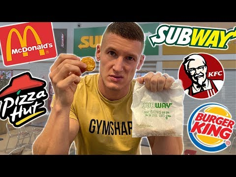 Only eating fast food items for under £1 *menu challenge*