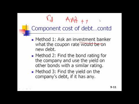 Cost of Capital Part 1