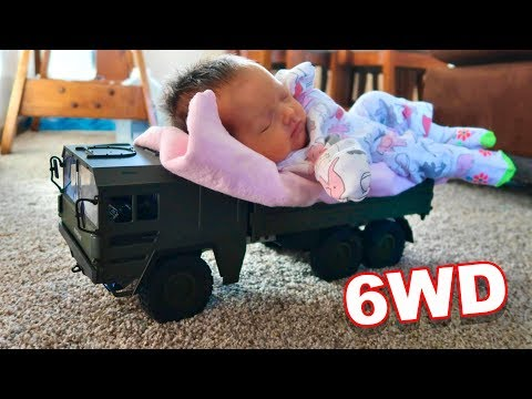 6 Wheel Drive Transport Military Truck & Family Time - Helifar HB - NB2805 - TheRcSaylors