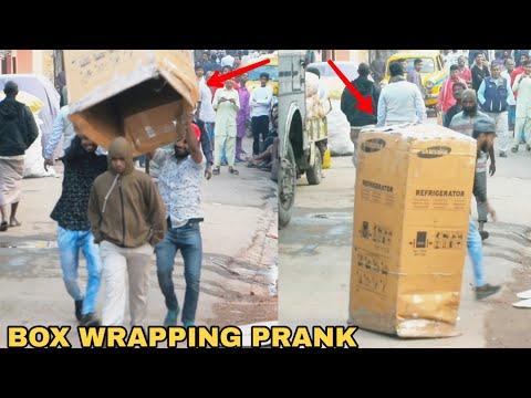 BOX WRAPPING PEOPLE PRANK PART 3! || PRANK IN INDIA - MOST DANGEROUS PRANK EVER || MOUZ PRANK