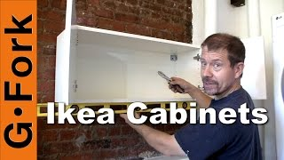 Hang Ikea Cabinets - GardenFork.TV
