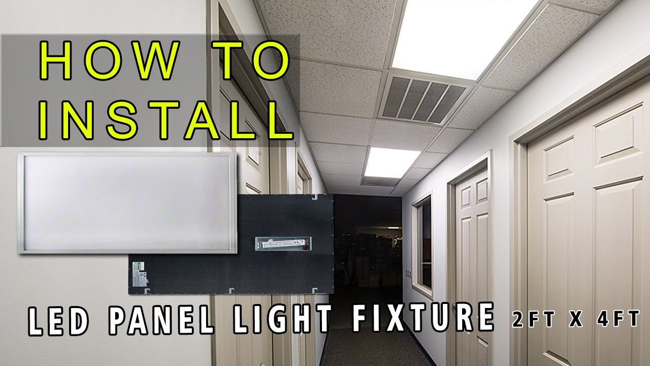 How To Install Led Panel Youtube