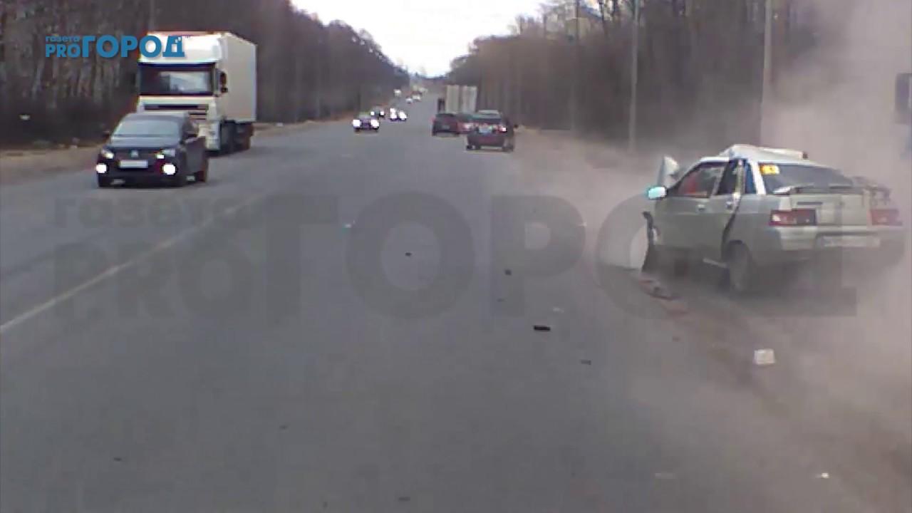 Видео ДТП на трассе М-5 в Рязанской области
