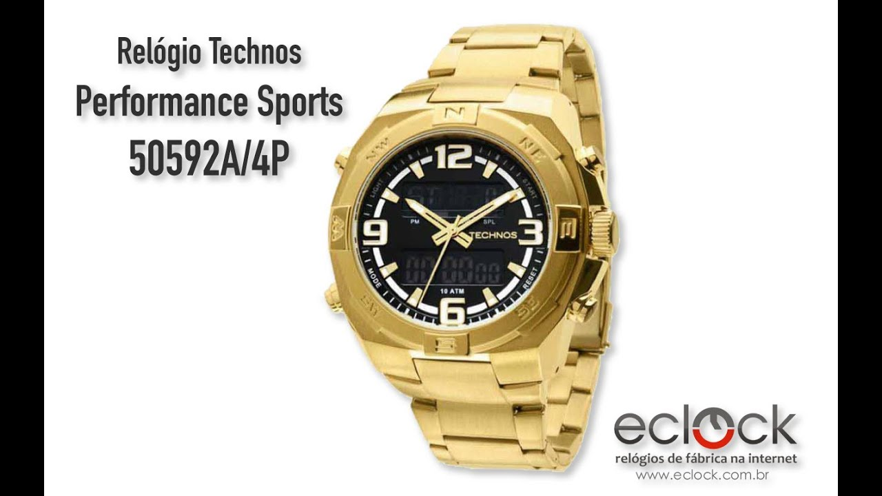 cefa9bb875e Relógio Technos Masculino Performance Sports 50592A 4P - Eclock by Eclock  Relógios