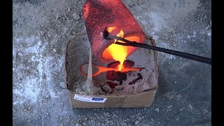 How To Cast a Bronze Tomahawk in Cardboard Box