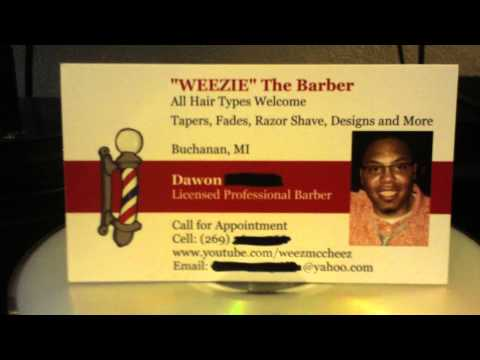 -REVIEW- Business Cards From FedEx Office - Who are You?.. I'm WEEZIE the BARBER!!