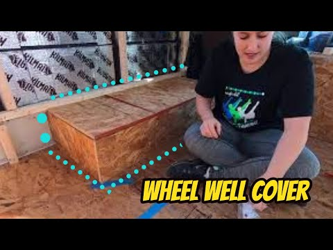 Making Wheel Well Cover Out of OSB * Skoolie Conversion * Gus The Struggle