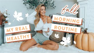 My Real HEALTHY Fall Morning Routine   How I Stay Productive + Breakfast Burrito Recipe