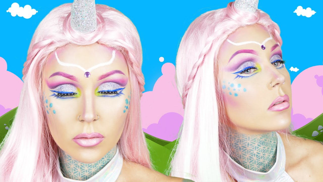Unicorn Halloween Makeup Tutorial With Kristen Leanne! - YouTube