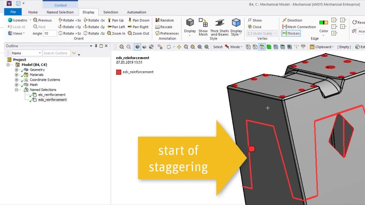 Ply Staggering with ACP - ANSYS Composite PrepPost