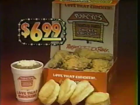 Popeyes Commercial - 1987