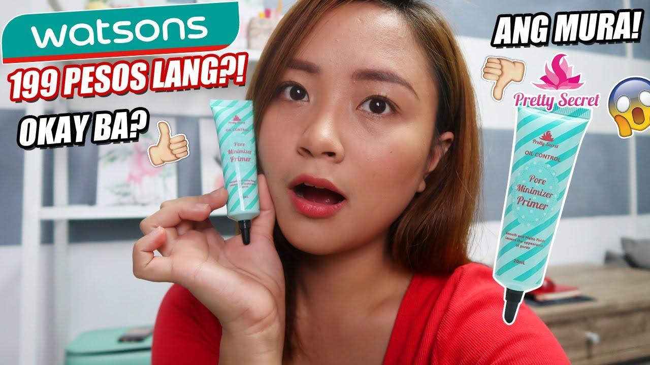 199 Pesos Primer Sa For Oily Skin Pretty Secret Review Youtube