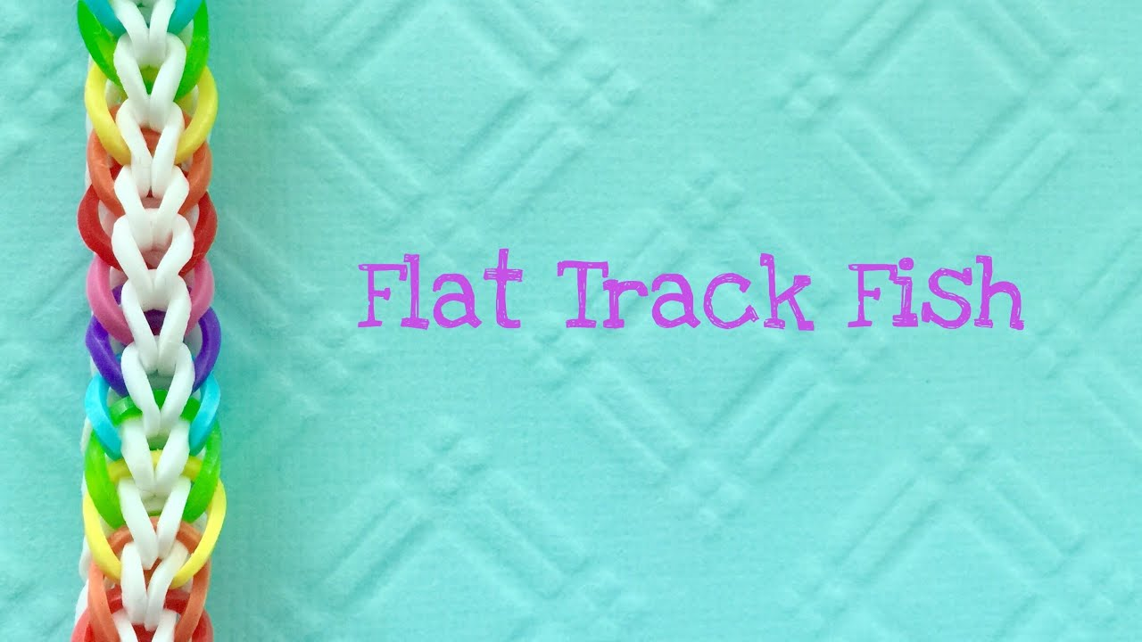 Rainbow Loom Bands a Flat Track Fish two peg tutorial ...
