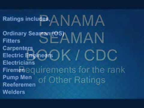 Requirements for Panama Seaman Book or CDC, Document checkli
