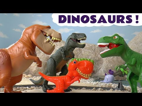 Dinosaurs with Disney Cars McQueen and Thomas The Tank Engine Toy Stories and funny Funlings TT4U