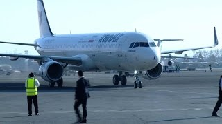 Iran's first post-sanctions Airbus flies in