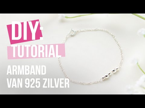 Sieraden maken: Armband maken met 925 zilver jasseron ♡ DIY