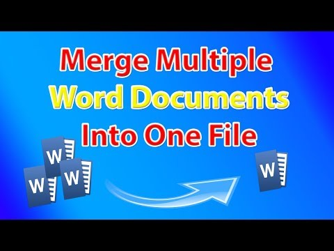How To Merge Multiple Word Documents 📝 Into One File ?