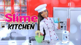 SLIME KITCHEN: DIY - How to Make Doll SLIME | Sugar Cookies | Eggs | Coffee | Ice | Lemonade & M