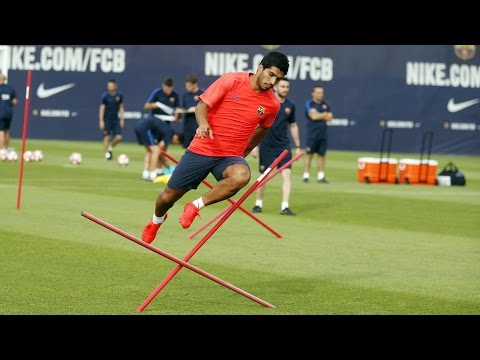 FC Barcelona's evening training session (21/07/16): Workout at the Ciutat Esportiva