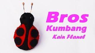 Cara Membuat Bros Kumbang Dari Kain Flanel