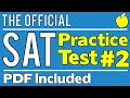 New SAT - Official Test #2 - Math Section 4 - Q1-20