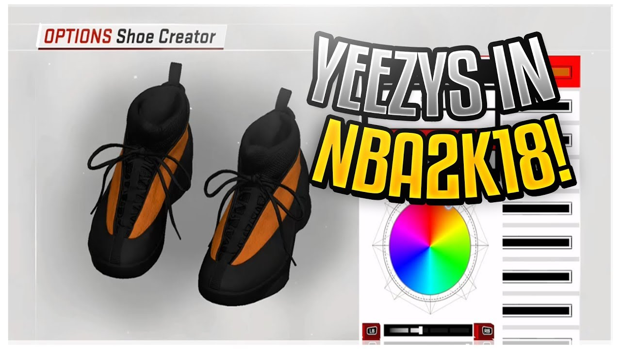 HOW TO MAKE YEEZYS IN NBA 2K18! HYPEBEAST SHOE CREATOR!