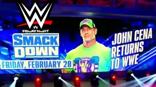 JOHN CENA RETURNS TO WWE! BREAKING WWE NEWS! WWE BACKSTAGE