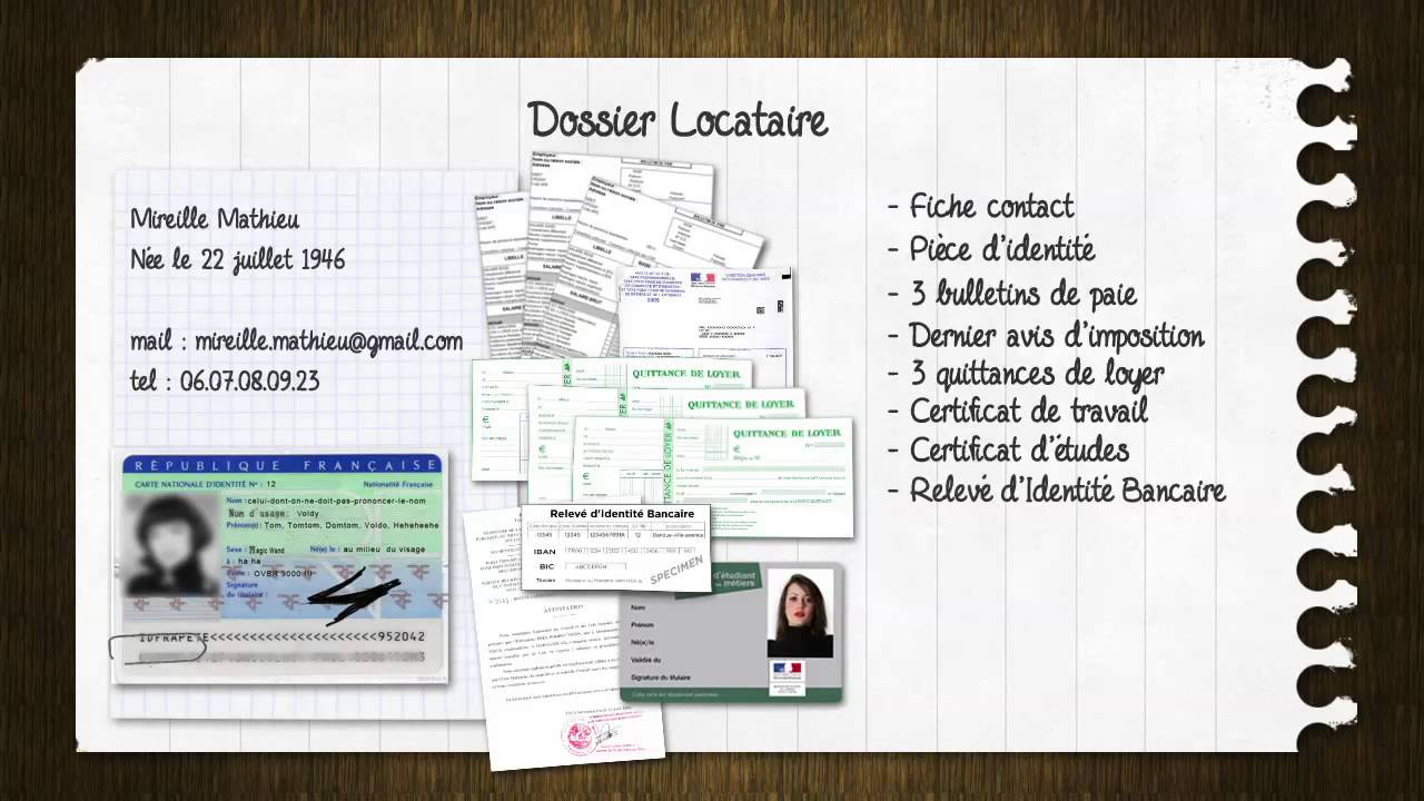 Trouver son logement pr parer son dossier de location youtube - Dossier location refuse ...