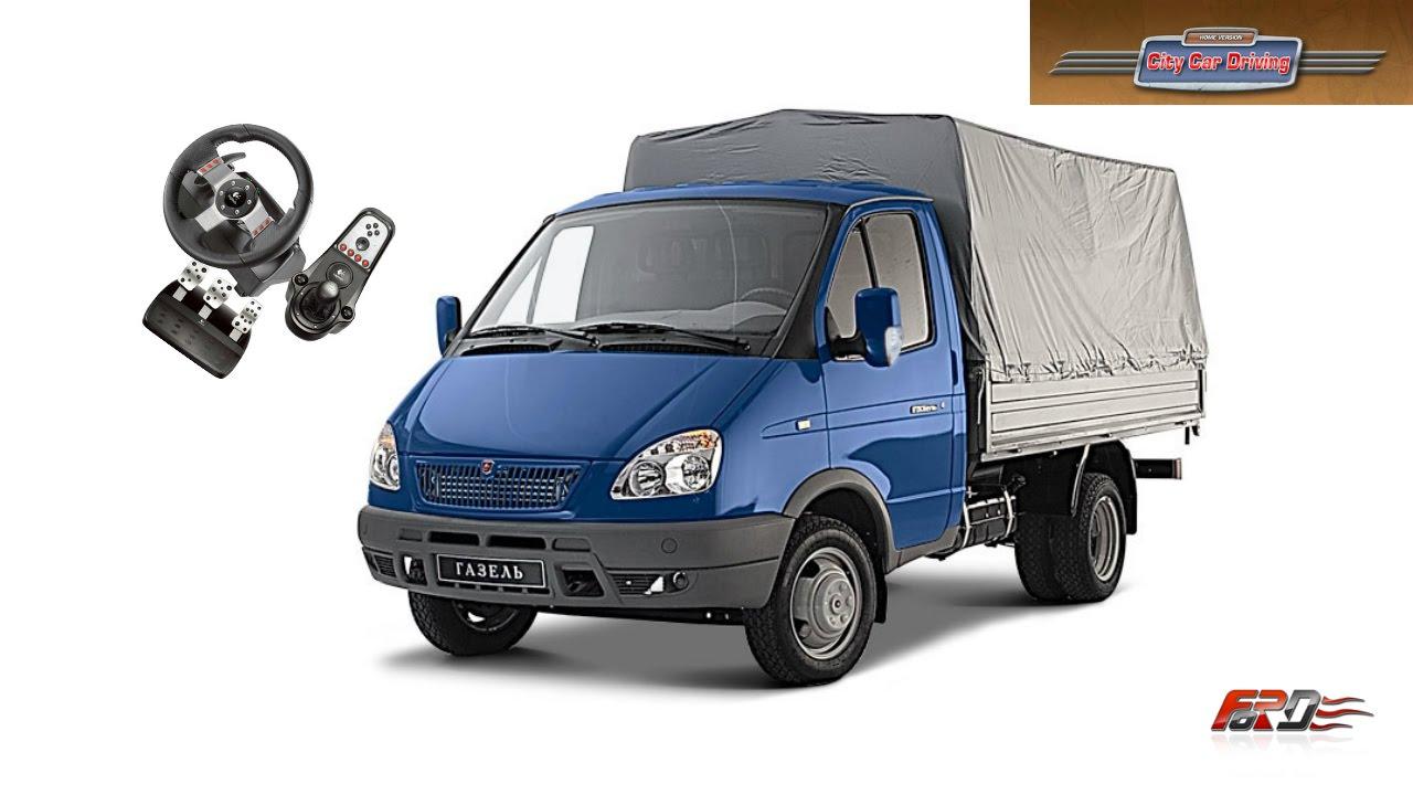 Renault Trafic и ГАЗ 3302 (ГАЗЕЛЬ)   тест драйв, обзор микроавтобусов City Car Driving АРХИВ