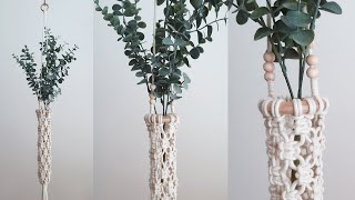 DIY Macrame Flower Hanger 마크라메…