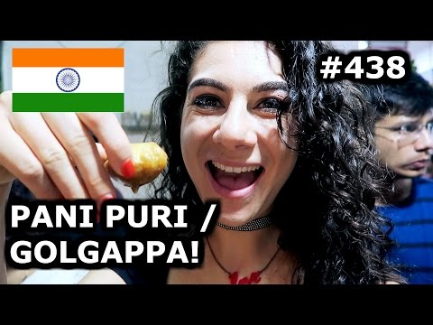 HAVING PANI PURI / GOLGAPPA | MUMBAI DAY 438 | INDIA | TRAVEL VLOG IV