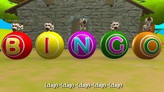 BINGO Dog Song - Nursery Rhyme With Lyrics - 3D Cartoon Animation Rhymes & Songs for Children