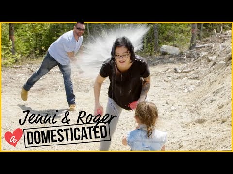 Water Balloon Fight With The Mathews | Jenni & Roger: Domesticated