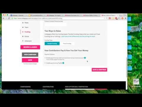 How to create an Indiegogo crowdfunding profile
