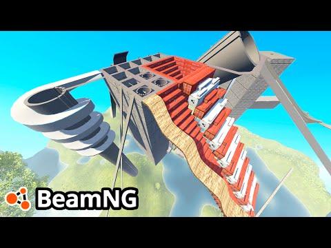 BeamNG Drive Creations : DESTRUCTION ARENA! (BeamNG Drive Crashes)