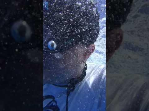 Ben going underwater with camera 2
