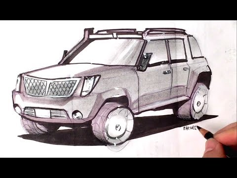 How To Draw An Suv Concept Quick Render 30 Days Of Show And Tell