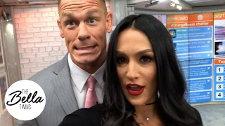 Behind the scenes of The Today Show with John Cena and Nikki Bella
