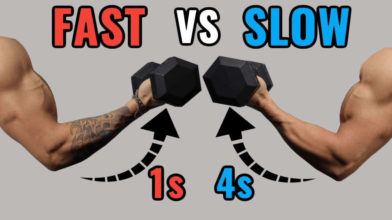 Slow Reps vs Fast Reps for Muscle Growth - YouTube