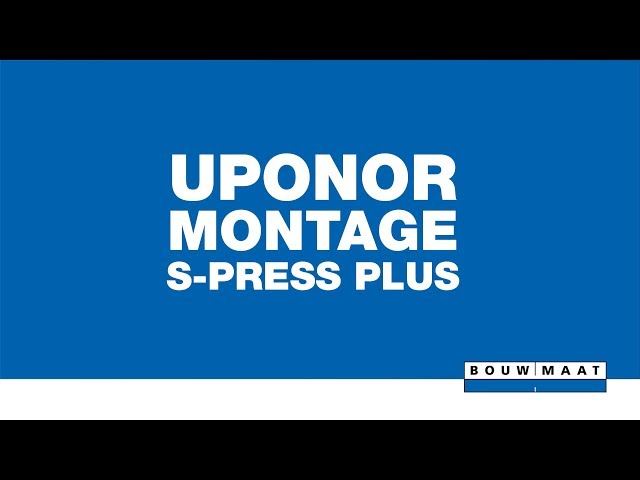 Uponor S-Press Plus perskoppeling montage