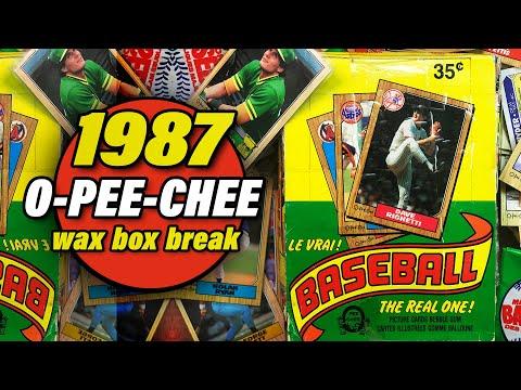 1987 O-PEE-CHEE Baseball Wax 36 Pack Box Break - Barry Bonds Rookie HUNT