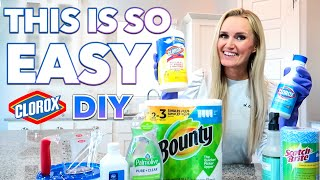 HOW TO MAKE HOMEMADE LYSOL DISINFECTING WIPES 🧼 DIY DISINFECTANT 😷 CLOROX CLEANING SPRAY ALCOHOL