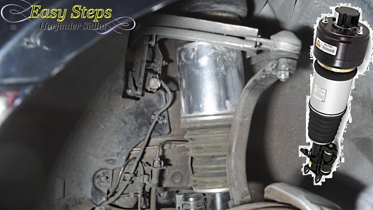 hight resolution of replace front air suspension shock on mercedes arnott struts for cls class w219 e class w211