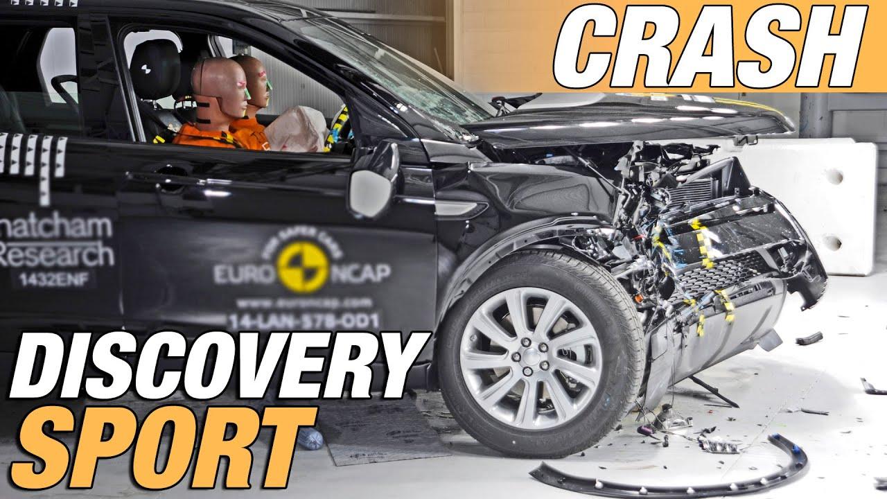 land rover discovery sport crash test youtube. Black Bedroom Furniture Sets. Home Design Ideas