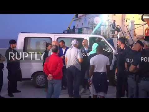 Migrant ship allowed to disembark in Italy after captain arrested.