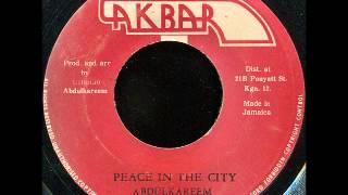 Abdulkareem - Peace In The City [1978]