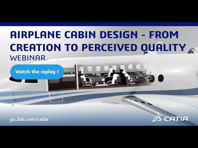 Airplane Cabin Design with CATIA Design 2019x